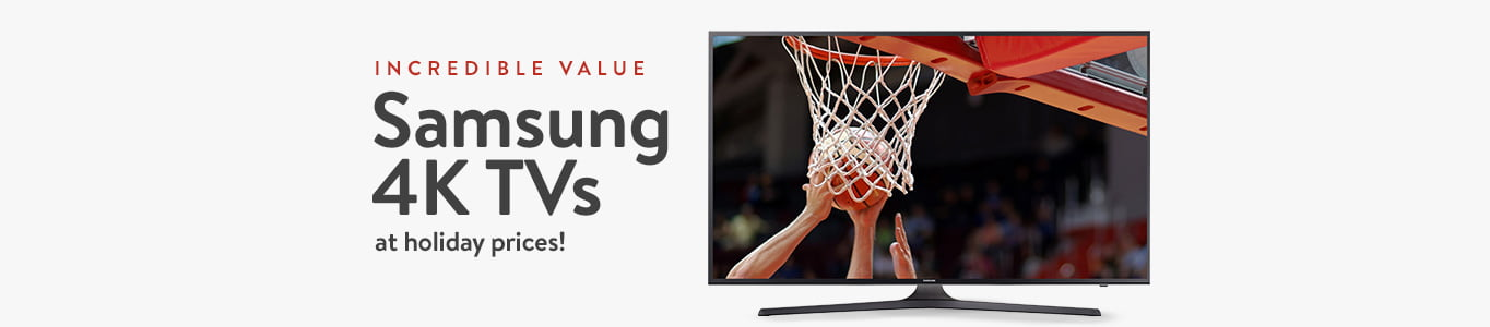 Incredible value on Samsung 4K TVs at holiday prices.
