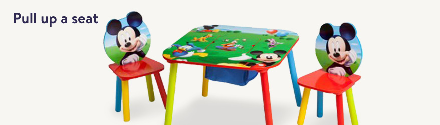 Toddler tables and chairs.