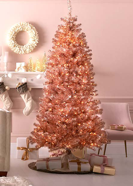 colored christmas trees - Christmas Decorations On The Cheap