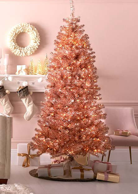 colored christmas trees - Christmas Room Decor