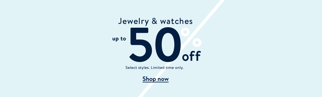 f8ec7843a17043 Jewelry & watches up to 50% off. Select styles. Limited time only.
