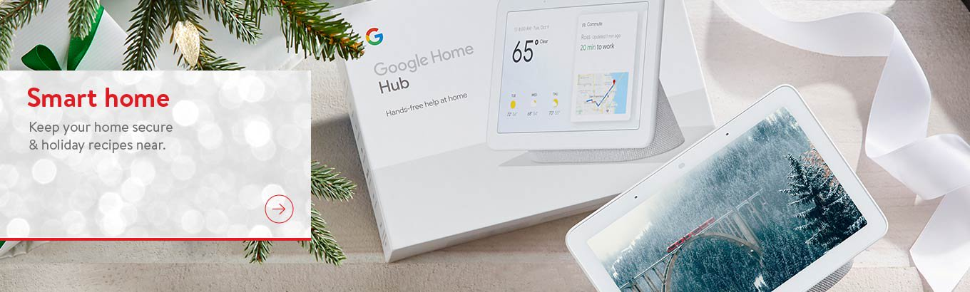 Smart home. Keep your home secure and holiday recipes near.