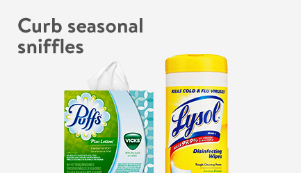 Curb seasonal sniffles. Shop cold and flu essentials now.