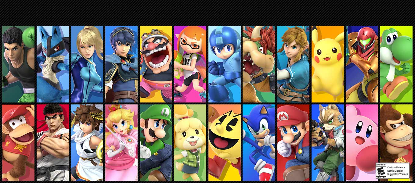 Super Smash Bros. Ultimate. The ultimate brawl. Challenge others anytime, anywhere.