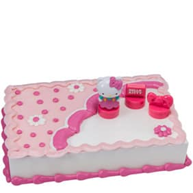 Pink Hello Kitty Sheet Cake