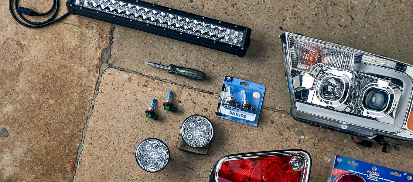 Car lights and bulbs: From headlights to taillights, & more.