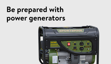 Be prepared with with power generators