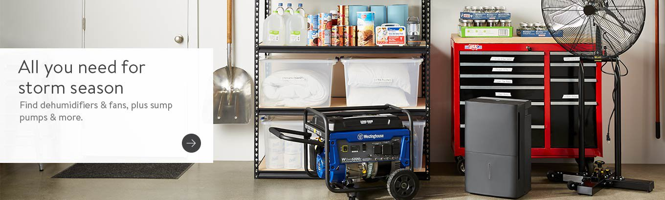 All you need for storm season. Find dehumidifiers & fans, plus sump pumps & more.