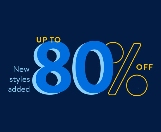 Presidents Day. Fashion clearance. Up to 80 percent off. New styles added. Shop all.