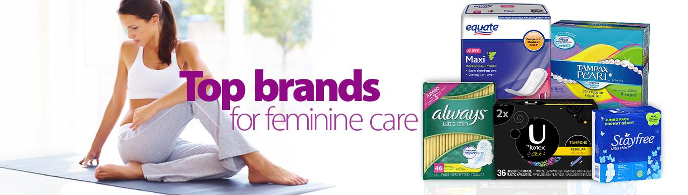 shop top brands for feminine care