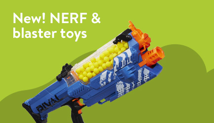 NEW! NERF and blaster toys