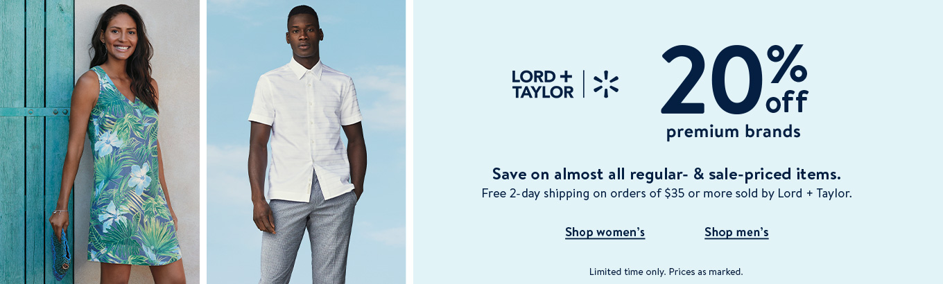 15214174ee4c6 Lord + Taylor plus Walmart. 20% off premium brands. Save on almost all