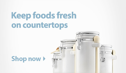 Keep foods fresh on countertops. Shop canisters.