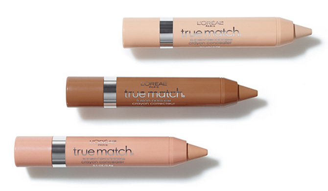A trio of L'oreal True Match concealers