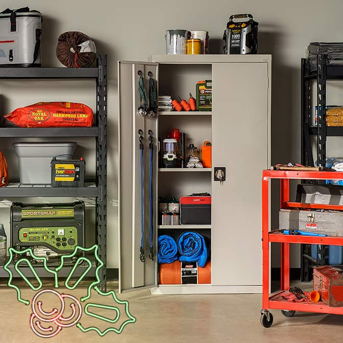 Cabinets For Easy Organization.