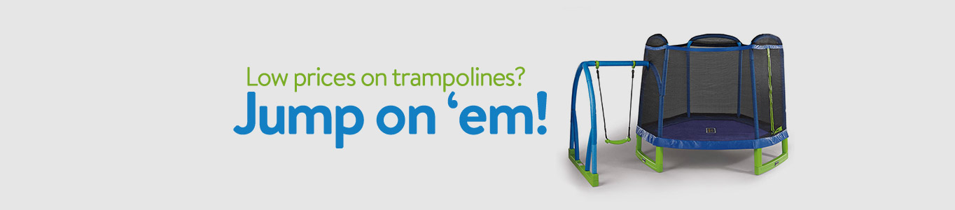Jump on these low prices on trampolines!