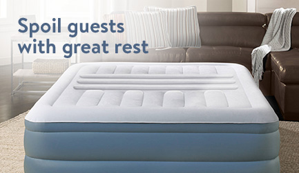 Spoil guests with great rest.