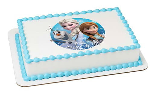 Sheet Cake With Edible Frozen Image