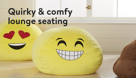 Quirky & comfy lounge seating.