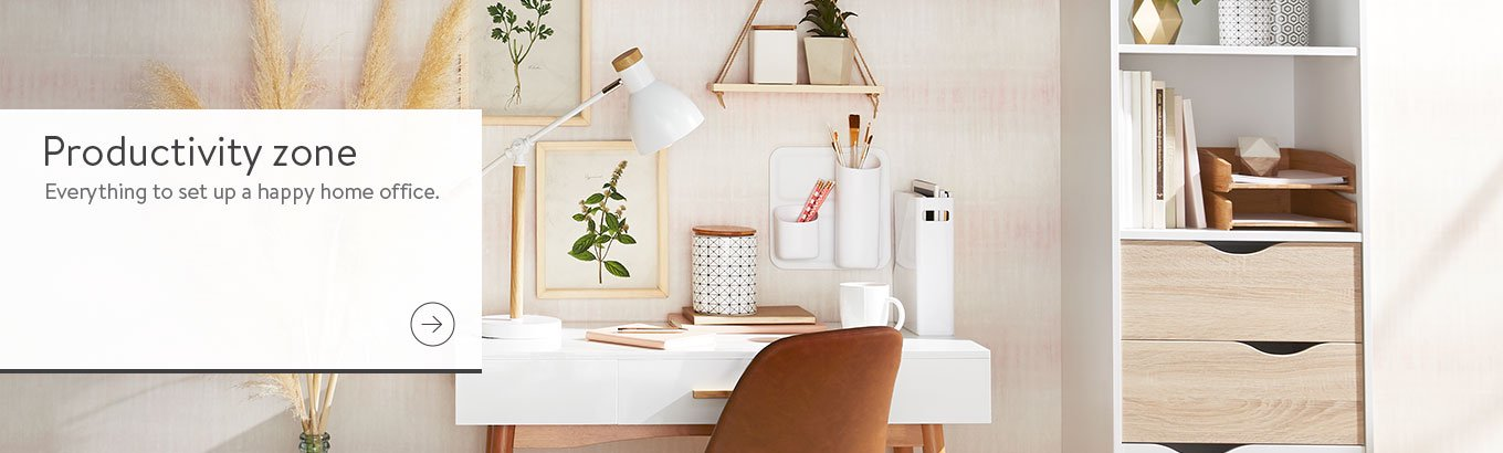 Productivity zone. Everything to set up a happy home office. Shop now.