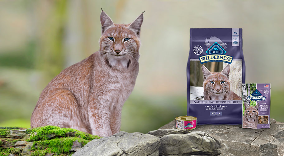 Feed Their Wild Side Grain-free BLUE Wilderness is packed with more of the meat cats crave.