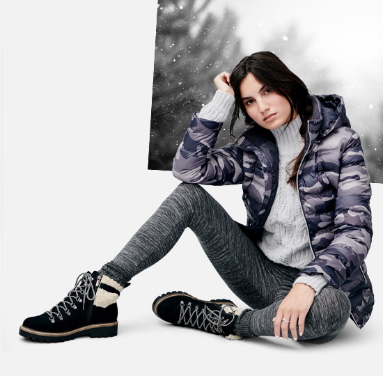 The cold weather shop. Stay warm in style. Women's.