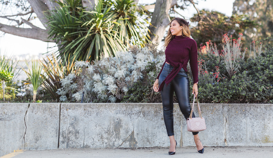 How to Wear Faux Leather With LoveChauntie