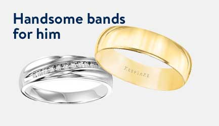 Handsome bands for him.