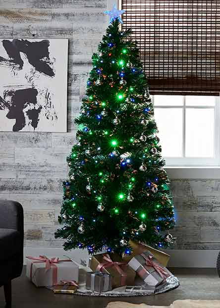 pre lit christmas trees - Christmas Tree With Lights And Decorations