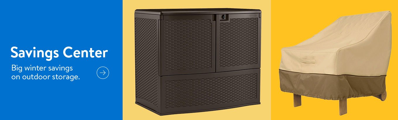 Savings Center. Big winter savings on outdoor storage.