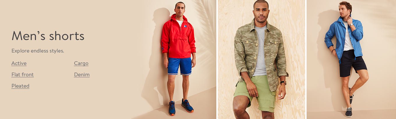 Men's shorts. Explore endless styles.
