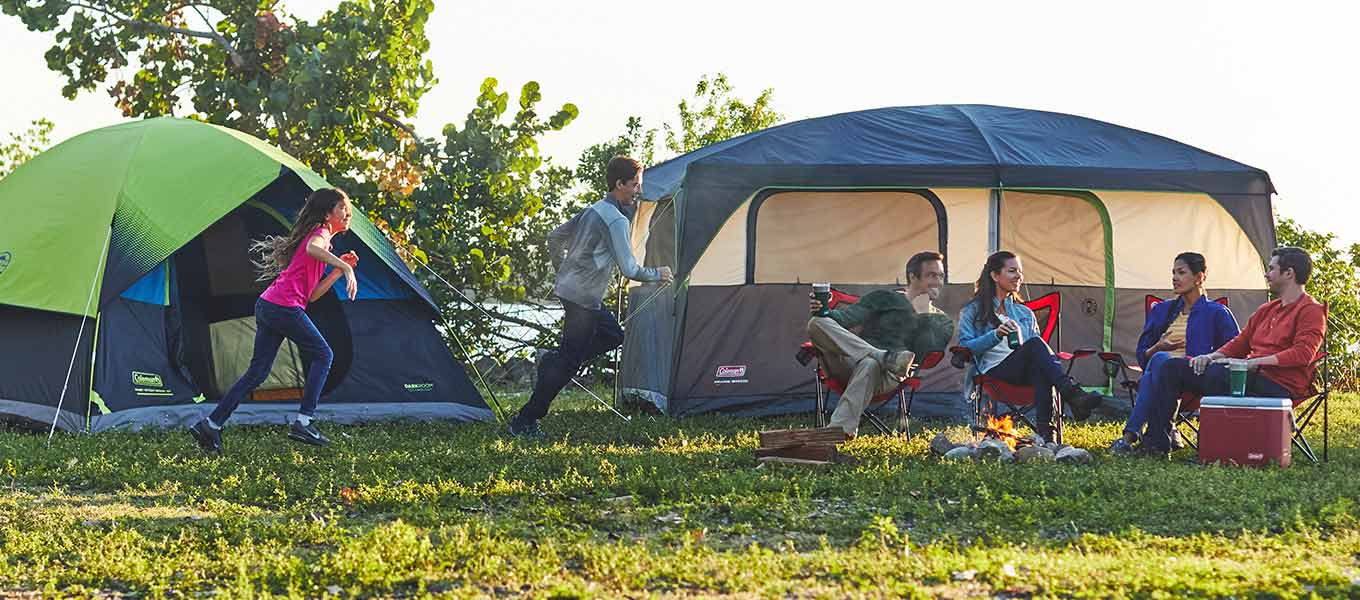 Pitch Perfect. Go wild in style with Coleman Dark Tents.