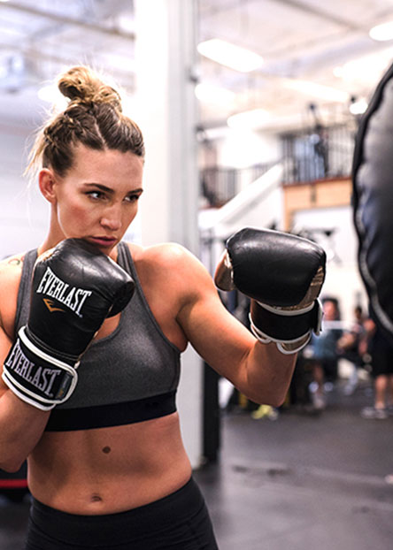 Fight like a girl. Get boxing tips & essentials for females who want to punch up their workouts.