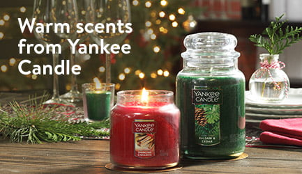 Warm scents from Yankee Candle