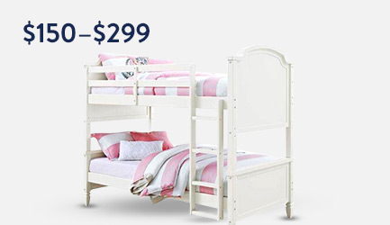 Shop bunk beds $150 to $299.