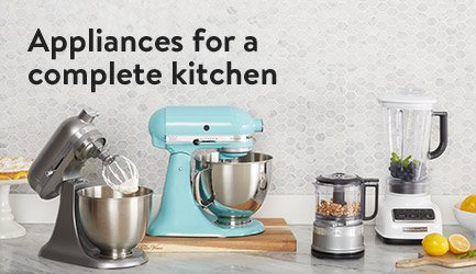 Appliances for a complete kitchen