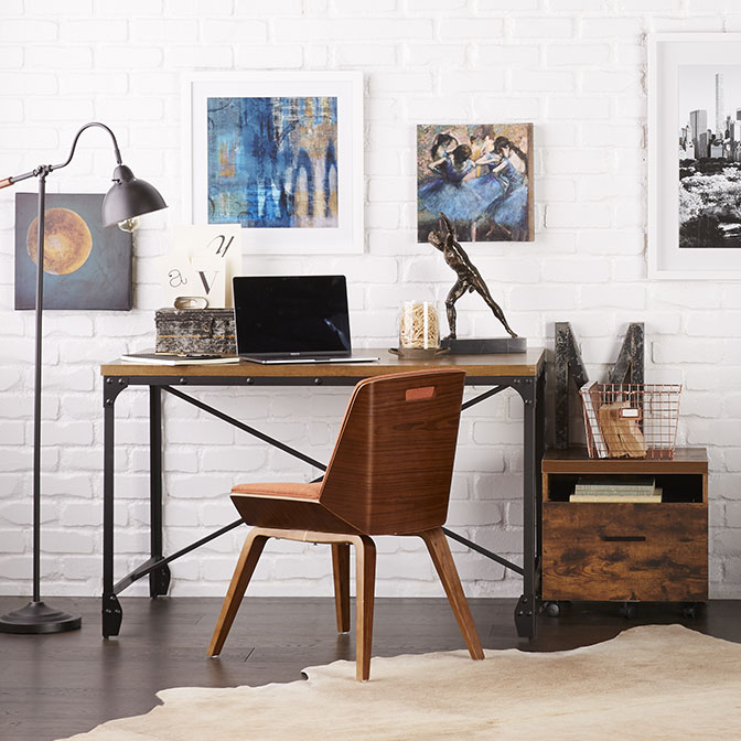 Industrial Home Office. Links To Industrial Style Furniture, Decor, And  More.
