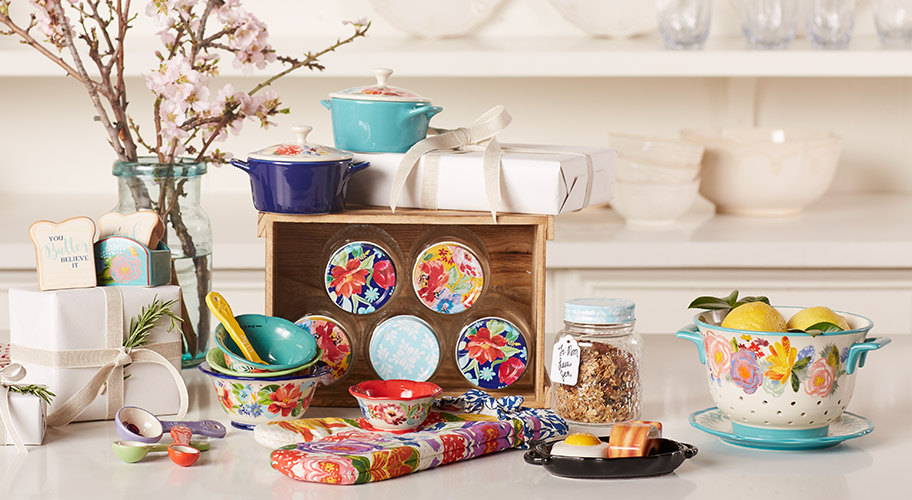 Mother's Day Delights. Moms who loves to cook will adore The Pioneer Woman's colorful kitchenware. Make her day with cheerful gifts.