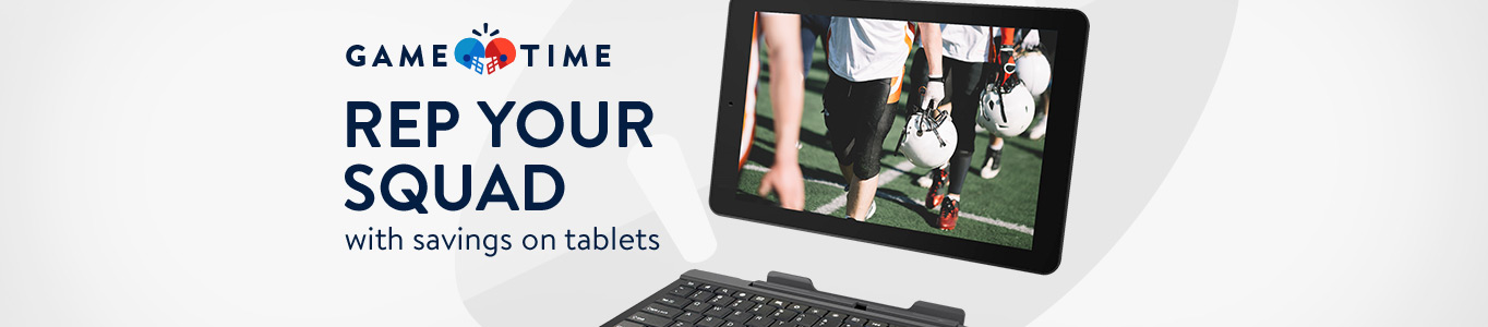 Rep your squad with savings on tablets