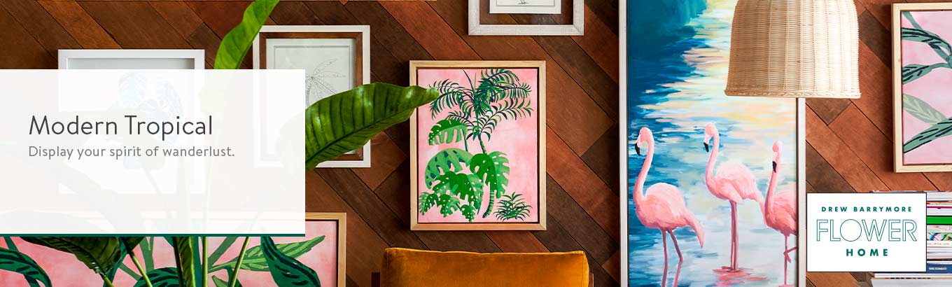 Shop the Modern Tropical wall gallery.