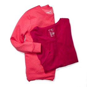 b0a4bbef53d26 On our radar. Basics. Pink long sleeve and a red tee shirt.