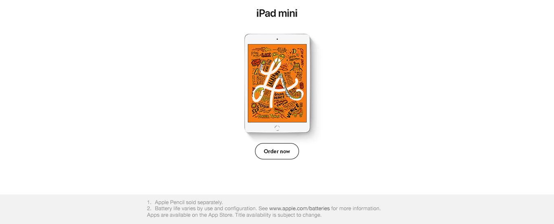iPad mini. Order now.