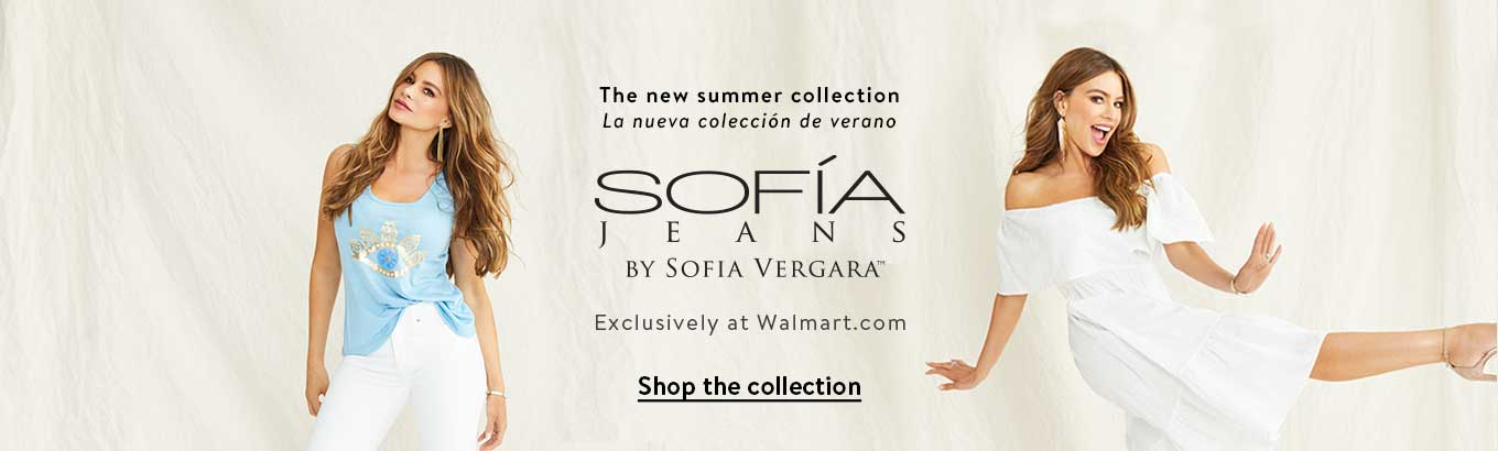 The new summer collection. La nueva colección de verano. Sofía Jeans    By Sofía Vergara   Exclusively at Walmart.com. Shop the collection.