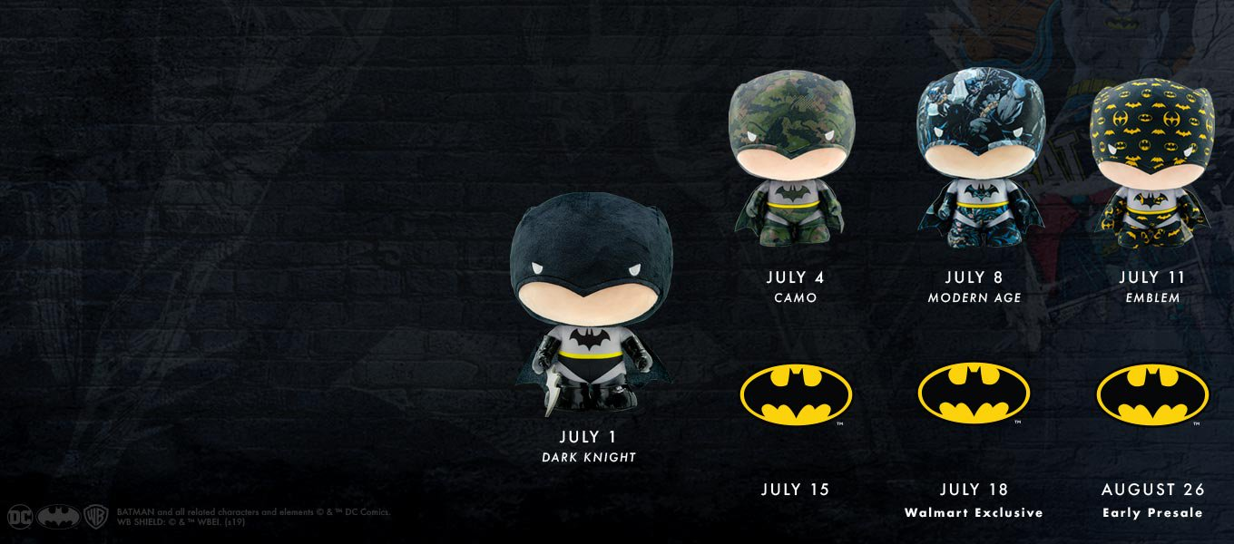 df6de1bee0b5c7 The caped crusader: Celebrate Batman's 80th with a plush!
