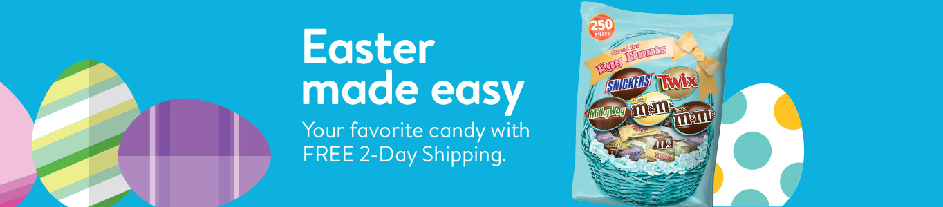 Easter made easy. Your favorite candy with FREE 2-Day Shipping.