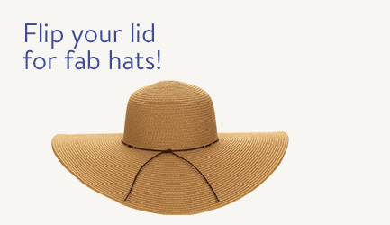 Flip your lid for fab hats!