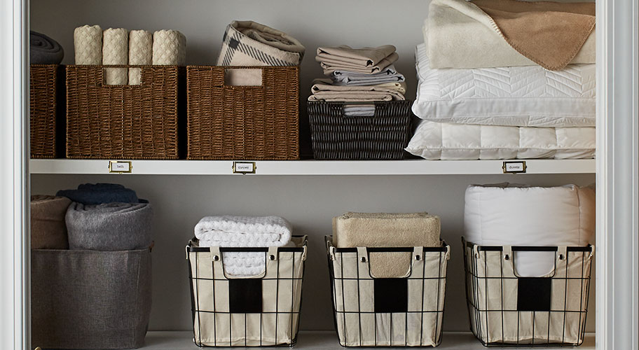 Feather their nest. Turn your guest room into a hotel-inspired retreat. Fill storage bins with fresh linens & fluffy towels & have extra pillows at the ready.