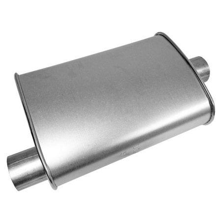 "Fit Durango Weld On Flat Burn 4/"" Tip Chrome Tip 2.5/"" Muffler Exhaust Adj Silence"