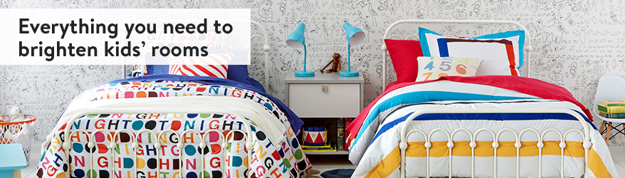 Everything you need to brighten kids' rooms