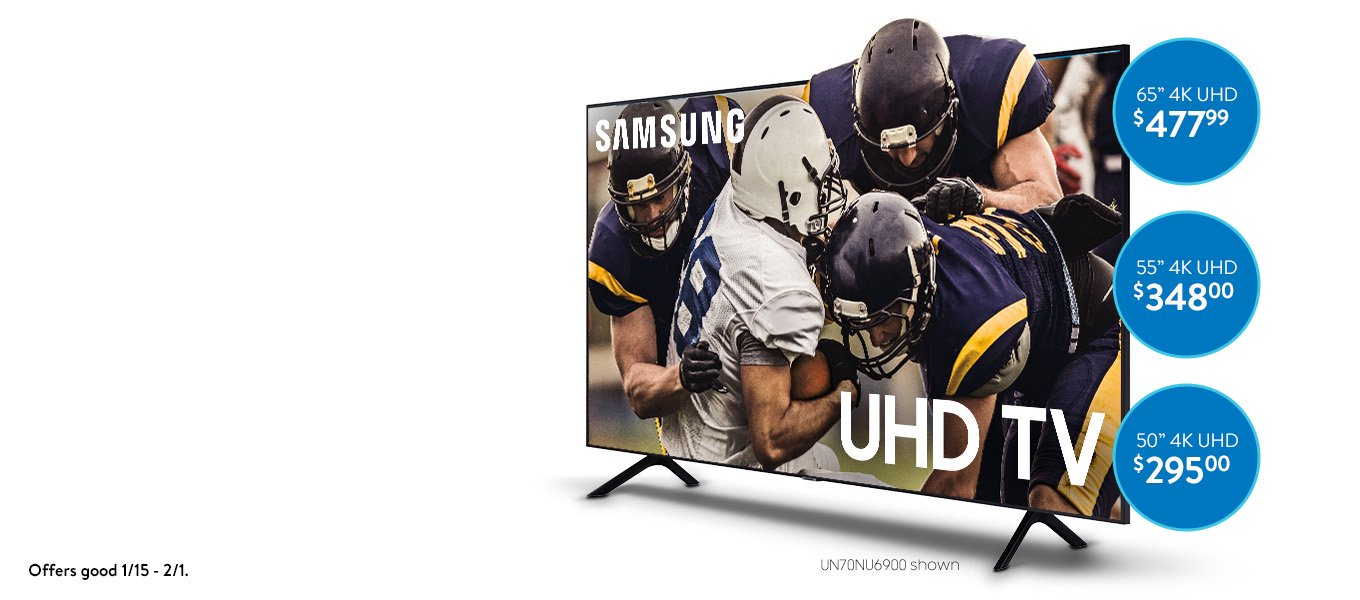 Go Big. Save Big. Samsung 4K. The best seat in the house. Shop now.